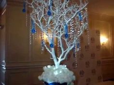 Our basic Manzanita Tree rental includes a Manzanita branch, a x anchor box, water gems, LED lighting, with set up & take down. Sweet Sixteen Centerpieces, Royal Blue Centerpieces, Bling Wedding Centerpieces, Birthday Centerpieces, Manzanita Centerpiece, Centerpiece Rentals, Manzanita Branches, Water Gems, Memory Tree