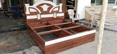 Bed Headboard Design, Bedroom Bed Design, Headboards For Beds, Dressing Table, Bed Furniture, Cot, Beds, Modern Wood Bed, Crib Bedding