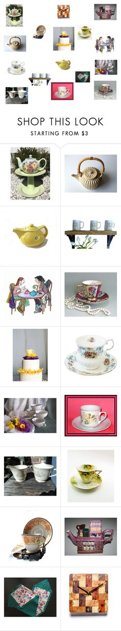 """""""Time for Tea"""" by einder on Polyvore featuring interior, interiors, interior design, home, home decor, interior decorating, Lenox, Noritake and vintage"""