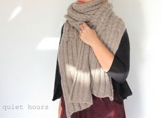 February Scarf ~ Quince & Co.  by quiet hours