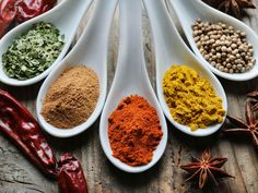 Indian Cooking A Quick Guide to Indian Spices - My Heart Beets Coconut Curry Chicken, Butter Chicken, Chicken Curry, Achari Chicken, Paleo Naan, Paleo Pizza, Indian Food Recipes, Vegetarian Recipes, Indian Foods