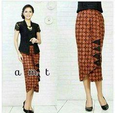 Batik drapped skirt