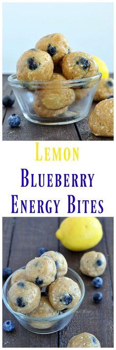 Lemon Blueberry Energy Bites