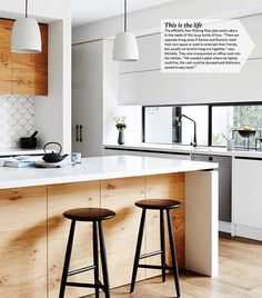 Good morning long weekend! . Here's a peek of my kitchen taken from this months @houseandgarden mag which I'm still pinching myself about ☺️. . It's looking pretty grey and wet out there, it's days like today I wish I had a fireplace! . . Have a great day everyone! Photography by @annetteobrien and styling by @huntandbow