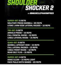 Musclepharm Workouts, Plyo Workouts, Killer Workouts, Weight Training Workouts, Body Weight Training, Gym Workout Chart, Gym Workout Tips, Fit Board Workouts, Shoulder Workout Routine