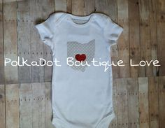 Boys or Girls Ohio State Home City Shirt by PolkaDotBoutiqueLove