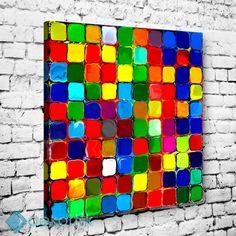 Colorful Mosaic Tablo #geometrik_tablolar #geometrik_kanvas_tablolar