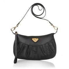 Maison Mollerus Tasche – Grazia Pochette Handbag Black – in schwarz aus Canvas – Abendtasche für Damen