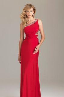 2012 Collection Evening Dresses Sheath/Column Floor Length Chiffon Beading/Sequins One Shoulder