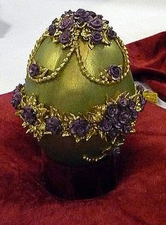 "This ""Faberge"" Easter Egg is a cake.  They were entered in the That Takes The Cake - Cake and Sugar Art Show - ""2010 A Cake Odyssey"""