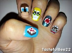 minecraft nail designs so cool