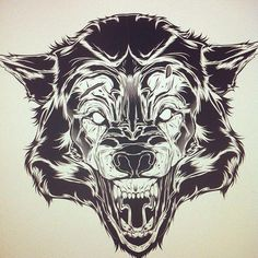 Wolf Time-Lapse (Vector) by Joshua M. Smith, via Behance Wolf Tattoo Design, Tribal Wolf Tattoo, Wolf Tattoos, Wolf Outline, Wolf Time, Armadura Medieval, Ink Illustrations, Future Tattoos, Tattoo Sketches