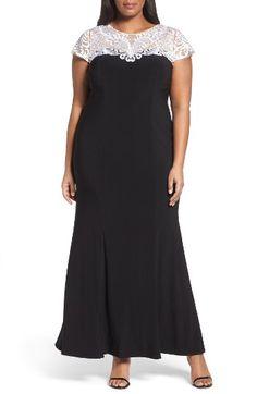 Black White Lace 1950s Prom Dresses Plus Size vintagedancer.com