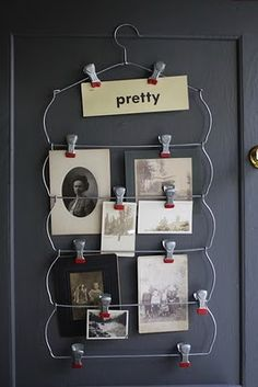 Nice display idea. And inexpensive too - would work well in my office for switching out pictures whenever I feel like it.  Would also be a great way to have a continuing picture display of the kids at school throughout the year.  Could hang next to the Arthur picture - 2 of these would mean one picture per child:)  Should do Valentine's day portraits too!
