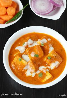 Paneer makhani recipe - a popular north indian dish made in restaurant style. Also known by different names paneer makhanwala, butter paneer. Makhani Recipes, Biryani Recipe, Masala Recipe, Curry Recipes, Rice Recipes, Healthy Recipes, Indian Paneer Recipes, North Indian Recipes, Indian Food Recipes