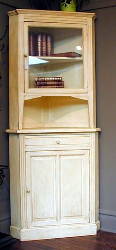 1920's Painted Corner Cabinets