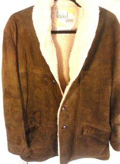 VINTAGE Charles James Leather Jacket Men's Size 44 #CharlesJames #BasicJacket