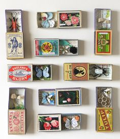 Handcrafted recycled paper sculptures of insects & fungi document a curious nature (Video) Handcraft Matchbox Crafts, Matchbox Art, Altered Tins, Lart Du Papier, Paper Art, Paper Crafts, Little Boy Blue, Tin Art, Gift Ideas