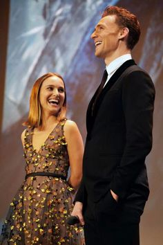 I love these photos of Natalie Portman and Tom Hiddleston at the Paris premiere of Thor: The Dark World