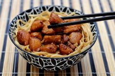 Chicken lacquered with honey and soy sauce Amandine Cooking Honey And Soy Sauce, No Salt Recipes, Asian Recipes, Ethnic Recipes, Kitchenette, Wok, Kung Pao Chicken, Sausage, Treats