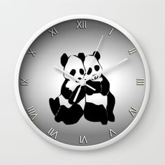 Buy Panda Bears Wall Clock by Leatherwood Design. Worldwide shipping available at Society6.com. Just one of millions of high quality products available. Source: Panda Bears Wall Clock by Leatherwoo…