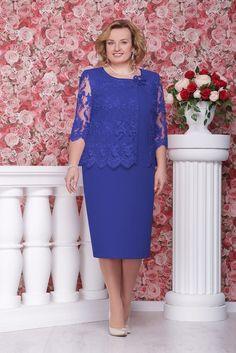 Dress платье שמלה plus size Elegant Dresses, Beautiful Dresses, Simple Cocktail Dress, Lace Dress Styles, Iranian Women Fashion, Plus Size Gowns, Royal Blue Dresses, Mom Dress, Mothers Dresses