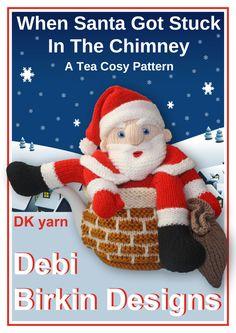 Santa tea cosy knitting pattern teacozy cozy cosies PDF email