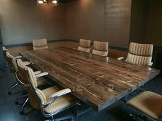 Conference Table Large Wood Table Made With Thick Reclaimed - Cheap conference table chairs