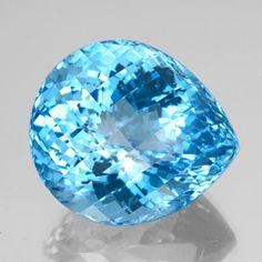 156.2ct Swiss Blue Topaz Gem from Brazil