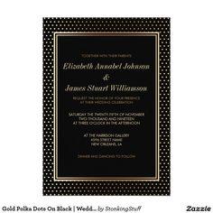 Gold Polka Dots On Black | Wedding Celebration