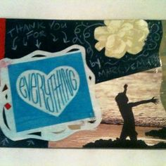 A postcard based on the new inspirational book, Everything, by Mary DeMuth. Created by Lisa Colon Delay.
