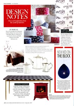 Lapicida's design collaboration with product designer Bethan Gray has made for some seriously stylish pieces  - Country & Town House September 2013 www.lapicida.com