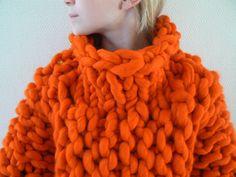 TJOCKT knitting with giant yarn