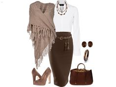 Belt the scarf with the skirt