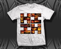 MENS SUNSET WHITE TEE BY HI FINEST