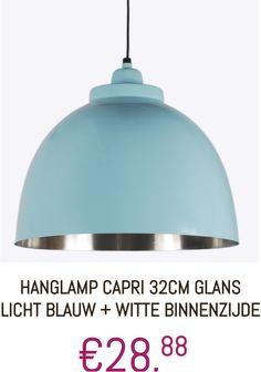 #Lamp #Hanglamp #Capri #Blauw