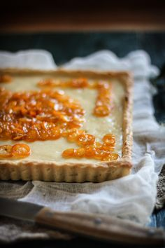 Adventures in Cooking: Candied Kumquat & Cream Cheese Tart