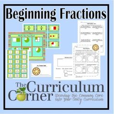 Free Beginning Fractions Activities - great hands on activities and printables for 2nd grade common core standards.  Many centers!  Freebies from www.thecurriculumcorner.com.