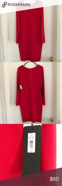 The Limited Eva Longoria Power Dress Fitted The Limited Eva Longoria dress,  79% Rayon, 19% Nylon, 2% spandex. The front of the dress is patterned. Please see the pattern in the picture with the price tag. The Limited Dresses Midi