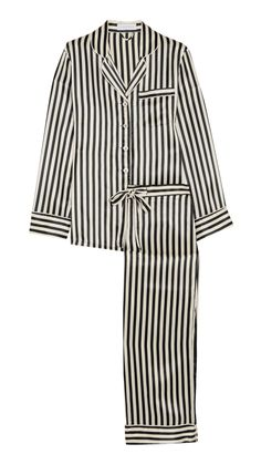 Striped Silk Pajamas - Gifts for her