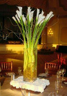 Manzanita branch wedding centerpiece with red orchids ; ) | Our ...