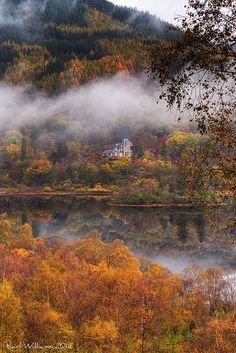 A bit of autumn colour at Loch Achray in the Scottish Trossachs