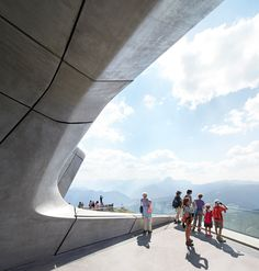 Messner Mountain Museum by Zaha Hadid photographer by Hufton+Crow Architecture Exam, Zaha Hadid Architecture, Concrete Architecture, Contemporary Architecture, Amazing Architecture, Big Architects, Brutalist, Urban Landscape, Exterior Design
