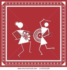 Find Indian Tribal Painting Warli Painting stock images in HD and millions of other royalty-free stock photos, illustrations and vectors in the Shutterstock collection. Thousands of new, high-quality pictures added every day. Madhubani Art, Madhubani Painting, Worli Painting, Fabric Painting, Indian Folk Art, Pencil Art Drawings, Traditional Paintings, Traditional Art, Monochrom