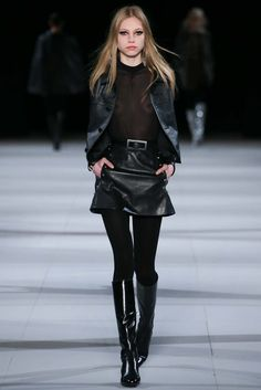 Saint Laurent Fall 2014 Ready-to-Wear Fashion Show - Laura Schellenberg (IMG)