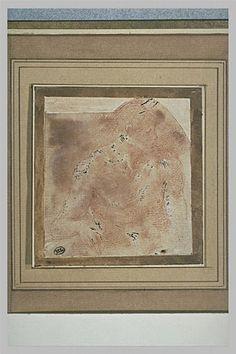 Le Primatice: Homme nu, de face, la tête de profil vers la droite, Le Louvre