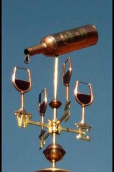 Wine weather vane