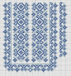 Beading _ Pattern - Motif / Earrings / Band ___ Square Sttich or Bead Loomwork ___ Gallery. Cross Stitch Borders, Cross Stitch Designs, Cross Stitch Charts, Cross Stitching, Needlepoint Patterns, Loom Patterns, Cross Stitch Patterns, Folk Embroidery, Cross Stitch Embroidery