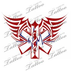 -oooh. sketching a variant of this as we speak- Ems Flight Medic Tattoo Createmytattoocom