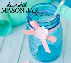 DIY decorated mason